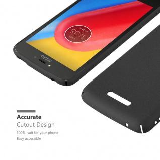 Cadorabo Hülle für Motorola MOTO C PLUS in FROSTY SCHWARZ - Hardcase Handyhülle aus Plastik gegen Kratzer und Stöße - Schutzhülle Bumper Ultra Slim Back Case Hard Cover - Vorschau 4