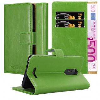 Cadorabo Hülle für WIKO VIEW in GRAS GRÜN Handyhülle mit Magnetverschluss, Standfunktion und Kartenfach Case Cover Schutzhülle Etui Tasche Book Klapp Style