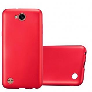 Cadorabo Hülle für LG X Power 2 in METALLIC ROT - Handyhülle aus flexiblem TPU Silikon - Silikonhülle Schutzhülle Ultra Slim Soft Back Cover Case Bumper