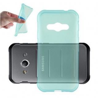 Cadorabo Hülle für Samsung Galaxy XCOVER 3 in TRANSPARENT BLAU - Handyhülle aus flexiblem TPU Silikon - Silikonhülle Schutzhülle Ultra Slim Soft Back Cover Case Bumper