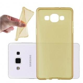 Cadorabo Hülle für Samsung Galaxy A5 2015 in TRANSPARENT GOLD - Handyhülle aus flexiblem TPU Silikon - Silikonhülle Schutzhülle Ultra Slim Soft Back Cover Case Bumper