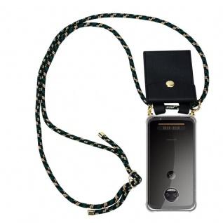 Cadorabo Handy Kette für Motorola MOTO Z2 in CAMOUFLAGE - Silikon Necklace Umhänge Hülle mit Gold Ringen, Kordel Band Schnur und abnehmbarem Etui ? Schutzhülle