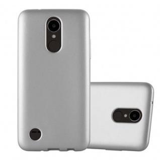 Cadorabo Hülle für LG K4 2017 in METALLIC SILBER - Handyhülle aus flexiblem TPU Silikon - Silikonhülle Schutzhülle Ultra Slim Soft Back Cover Case Bumper