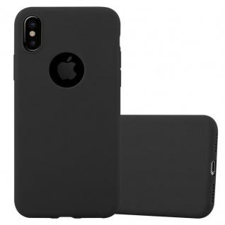 Cadorabo Hülle für Apple iPhone XS MAX in CANDY SCHWARZ - Handyhülle aus flexiblem TPU Silikon - Silikonhülle Schutzhülle Ultra Slim Soft Back Cover Case Bumper