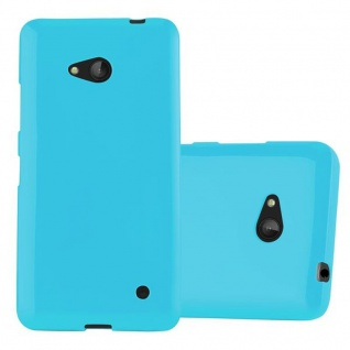 Cadorabo Hülle für Nokia Lumia 640 in JELLY HELL BLAU - Handyhülle aus flexiblem TPU Silikon - Silikonhülle Schutzhülle Ultra Slim Soft Back Cover Case Bumper