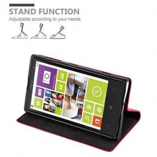 Cadorabo Hülle für Nokia Lumia 1020 in APFEL ROT - Handyhülle mit Magnetverschluss, Standfunktion und Kartenfach - Case Cover Schutzhülle Etui Tasche Book Klapp Style - Vorschau 5
