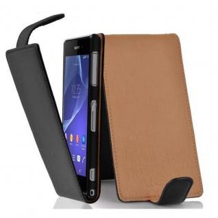 Cadorabo Hülle für Sony Xperia Z2 in OXID SCHWARZ - Handyhülle im Flip Design aus strukturiertem Kunstleder - Case Cover Schutzhülle Etui Tasche Book Klapp Style
