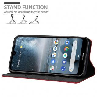 Cadorabo Hülle für Nokia 4.2 in APFEL ROT Handyhülle mit Magnetverschluss, Standfunktion und Kartenfach Case Cover Schutzhülle Etui Tasche Book Klapp Style - Vorschau 2