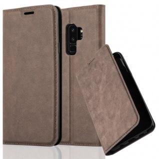 Cadorabo Hülle für Samsung Galaxy S9 PLUS in KAFFEE BRAUN - Handyhülle mit Magnetverschluss, Standfunktion und Kartenfach - Case Cover Schutzhülle Etui Tasche Book Klapp Style