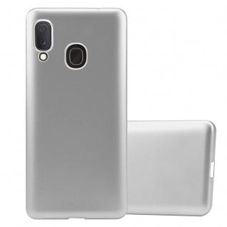 Cadorabo Hülle für Samsung Galaxy A20e in METALLIC SILBER - Handyhülle aus flexiblem TPU Silikon - Silikonhülle Schutzhülle Ultra Slim Soft Back Cover Case Bumper