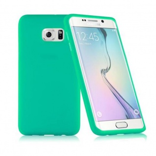Cadorabo - TPU Silikon Schutzhülle (Full Body Rund-um-Schutz auch für das Display) für Samsung Galaxy S6 EDGE PLUS (SM-G925F) in MEER GRÜN