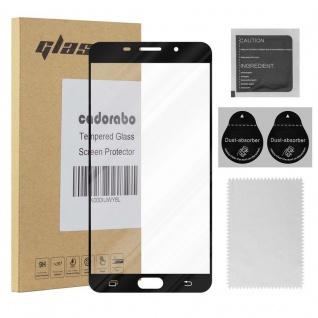 Cadorabo Vollbild Panzer Folie für Samsung Galaxy A9 2016 - Schutzfolie in TRANSPARENT mit SCHWARZ - Gehärtetes (Tempered) Display-Schutzglas in 9H Härte mit 3D Touch Kompatibilität