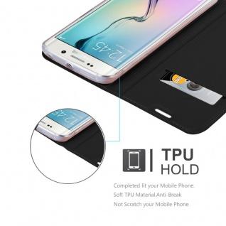 Cadorabo Hülle für Samsung Galaxy S6 EDGE PLUS in CLASSY SCHWARZ - Handyhülle mit Magnetverschluss, Standfunktion und Kartenfach - Case Cover Schutzhülle Etui Tasche Book Klapp Style - Vorschau 2