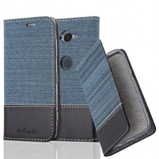Cadorabo Hülle für Sony Xperia XZ2 COMPACT in DUNKEL BLAU SCHWARZ - Handyhülle mit Magnetverschluss, Standfunktion und Kartenfach - Case Cover Schutzhülle Etui Tasche Book Klapp Style