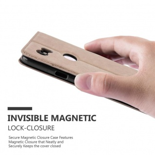 Cadorabo Hülle für Google Pixel 2 XL in KAFFEE BRAUN - Handyhülle mit Magnetverschluss, Standfunktion und Kartenfach - Case Cover Schutzhülle Etui Tasche Book Klapp Style - Vorschau 4