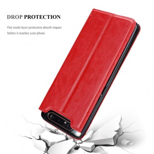 Cadorabo Hülle für Samsung Galaxy A80 / A90 in APFEL ROT - Handyhülle mit Magnetverschluss, Standfunktion und Kartenfach - Case Cover Schutzhülle Etui Tasche Book Klapp Style - Vorschau 5