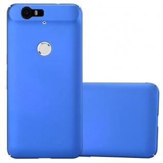 Cadorabo Hülle für Huawei NEXUS 6P in METALL BLAU ? Hardcase Handyhülle aus Plastik gegen Kratzer und Stöße ? Schutzhülle Bumper Ultra Slim Back Case Hard Cover - Vorschau 1