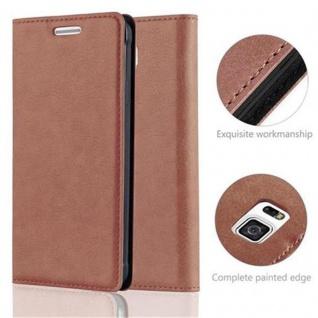 Cadorabo Hülle für Samsung Galaxy ALPHA in CAPPUCCINO BRAUN - Handyhülle mit Magnetverschluss, Standfunktion und Kartenfach - Case Cover Schutzhülle Etui Tasche Book Klapp Style - Vorschau 2