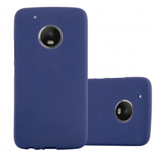 Cadorabo Hülle für Motorola MOTO G5 in FROST DUNKEL BLAU - Handyhülle aus flexiblem TPU Silikon - Silikonhülle Schutzhülle Ultra Slim Soft Back Cover Case Bumper