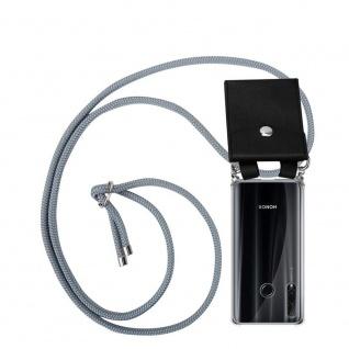 Cadorabo Handy Kette für Honor 20e in SILBER GRAU Silikon Necklace Umhänge Hülle mit Silber Ringen, Kordel Band Schnur und abnehmbarem Etui Schutzhülle