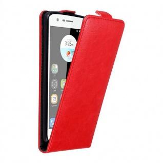 Cadorabo Hülle für ZTE BLADE V8 MINI in APFEL ROT - Handyhülle im Flip Design mit unsichtbarem Magnetverschluss - Case Cover Schutzhülle Etui Tasche Book Klapp Style