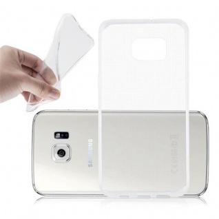 Cadorabo Hülle für Samsung Galaxy S6 EDGE PLUS in VOLL TRANSPARENT - Handyhülle aus flexiblem TPU Silikon - Silikonhülle Schutzhülle Ultra Slim Soft Back Cover Case Bumper