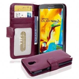 Cadorabo Hülle für Samsung Galaxy NOTE 3 NEO in BORDEAUX LILA ? Handyhülle mit Magnetverschluss und 3 Kartenfächern ? Case Cover Schutzhülle Etui Tasche Book Klapp Style