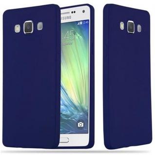 Cadorabo Hülle für Samsung Galaxy A5 2015 in CANDY DUNKEL BLAU Handyhülle aus flexiblem TPU Silikon Silikonhülle Schutzhülle Ultra Slim Soft Back Cover Case Bumper