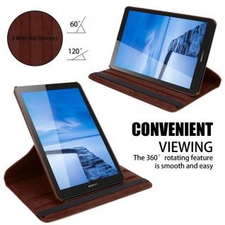 """"""" Cadorabo Tablet Hülle für Huawei MediaPad T3 7 (7, 0"""" Zoll) in PILZ BRAUN ? Book Style Schutzhülle OHNE Auto Wake Up mit Standfunktion und Gummiband Verschluss"""" - Vorschau 4"""