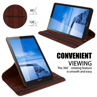 """Cadorabo Tablet Hülle für Huawei MediaPad T3 7 (7, 0"""" Zoll) in PILZ BRAUN Book Style Schutzhülle OHNE Auto Wake Up mit Standfunktion und Gummiband Verschluss - Vorschau 5"""