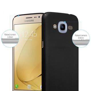 Cadorabo Hülle für Samsung Galaxy J2 2016 in METALL SCHWARZ ? Hardcase Handyhülle aus Plastik gegen Kratzer und Stöße ? Schutzhülle Bumper Ultra Slim Back Case Hard Cover - Vorschau 2