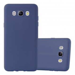 Cadorabo Hülle für Samsung Galaxy J7 2016 in CANDY DUNKEL BLAU - Handyhülle aus flexiblem TPU Silikon - Silikonhülle Schutzhülle Ultra Slim Soft Back Cover Case Bumper