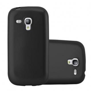 Cadorabo Hülle für Samsung Galaxy S3 MINI in METALLIC SCHWARZ - Handyhülle aus flexiblem TPU Silikon - Silikonhülle Schutzhülle Ultra Slim Soft Back Cover Case Bumper