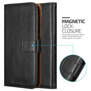 Cadorabo Hülle für HTC Desire 10 PRO in GRAPHIT SCHWARZ - Handyhülle mit Magnetverschluss, Standfunktion und Kartenfach - Case Cover Schutzhülle Etui Tasche Book Klapp Style - Vorschau 2