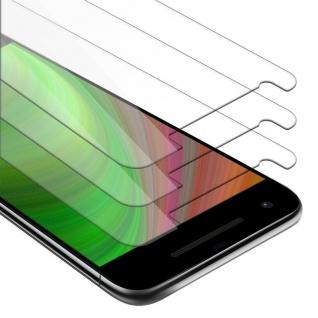 Cadorabo 3x Panzer Folie für Google Pixel 2 - Schutzfolie in KRISTALL KLAR - 3er Pack Gehärtetes (Tempered) Display-Schutzglas in 9H Härte mit 3D Touch Kompatibilität