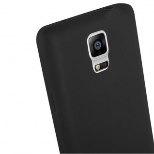 Cadorabo Hülle für Samsung Galaxy NOTE 4 in CANDY SCHWARZ - Handyhülle aus flexiblem TPU Silikon - Silikonhülle Schutzhülle Ultra Slim Soft Back Cover Case Bumper - Vorschau 5