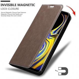 Cadorabo Hülle für Samsung Galaxy NOTE 9 in KAFFEE BRAUN - Handyhülle mit Magnetverschluss, Standfunktion und Kartenfach - Case Cover Schutzhülle Etui Tasche Book Klapp Style - Vorschau 3