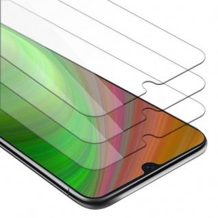 Cadorabo 3x Panzer Folie für Samsung Galaxy A50 - Schutzfolie in KRISTALL KLAR - 3er Pack Gehärtetes (Tempered) Display-Schutzglas in 9H Härte mit 3D Touch Kompatibilität