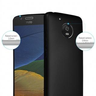 Cadorabo Hülle für Motorola MOTO G5 in METALL SCHWARZ - Hardcase Handyhülle aus Plastik gegen Kratzer und Stöße - Schutzhülle Bumper Ultra Slim Back Case Hard Cover - Vorschau 2