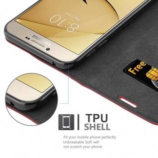 Cadorabo Hülle für Samsung Galaxy A8 2016 in APFEL ROT - Handyhülle mit Magnetverschluss, Standfunktion und Kartenfach - Case Cover Schutzhülle Etui Tasche Book Klapp Style - Vorschau 3