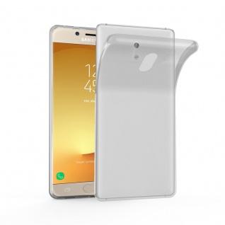 Cadorabo Hülle für Samsung Galaxy J3 2017 in VOLL TRANSPARENT - Handyhülle aus flexiblem TPU Silikon - Silikonhülle Schutzhülle Ultra Slim Soft Back Cover Case Bumper