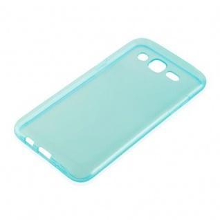 Cadorabo Hülle für Samsung Galaxy J3 2015 in TRANSPARENT BLAU - Handyhülle aus flexiblem TPU Silikon - Silikonhülle Schutzhülle Ultra Slim Soft Back Cover Case Bumper - Vorschau 2