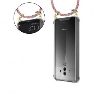Cadorabo Handy Kette für Huawei MATE 10 PRO in COLORFUL PARROT - Silikon Necklace Umhänge Hülle mit Gold Ringen, Kordel Band Schnur und abnehmbarem Etui ? Schutzhülle - Vorschau 5