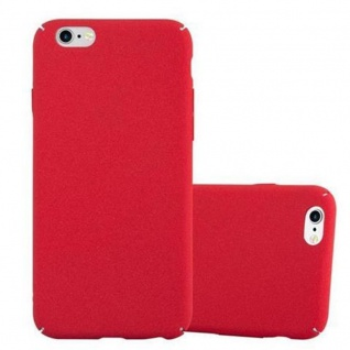 Cadorabo Hülle für Apple iPhone 6 PLUS / iPhone 6S PLUS in FROSTY ROT - Hardcase Handyhülle aus Plastik gegen Kratzer und Stöße - Schutzhülle Bumper Ultra Slim Back Case Hard Cover