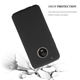 Cadorabo Hülle für Motorola MOTO G5 PLUS in FROSTY SCHWARZ - Hardcase Handyhülle aus Plastik gegen Kratzer und Stöße - Schutzhülle Bumper Ultra Slim Back Case Hard Cover - Vorschau 4