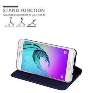 Cadorabo Hülle für Samsung Galaxy A5 2016 in CLASSY DUNKEL BLAU - Handyhülle mit Magnetverschluss, Standfunktion und Kartenfach - Case Cover Schutzhülle Etui Tasche Book Klapp Style - Vorschau 4