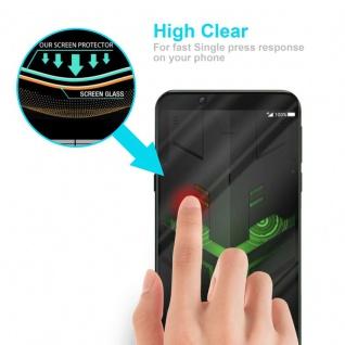 Cadorabo Vollbild Panzer Folie für Xiaomi BLACK SHARK 2 - Schutzfolie in TRANSPARENT mit SCHWARZ - Gehärtetes (Tempered) Display-Schutzglas in 9H Härte mit 3D Touch Kompatibilität - Vorschau 5