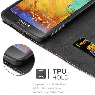 Cadorabo Hülle für Samsung Galaxy NOTE 3 in GOLD SCHWARZ ? Handyhülle mit Magnetverschluss, Standfunktion und Kartenfach ? Case Cover Schutzhülle Etui Tasche Book Klapp Style - Vorschau 3