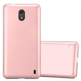 Cadorabo Hülle für Nokia 2 2017 in METALL ROSÉ GOLD ? Hardcase Handyhülle aus Plastik gegen Kratzer und Stöße ? Schutzhülle Bumper Ultra Slim Back Case Hard Cover