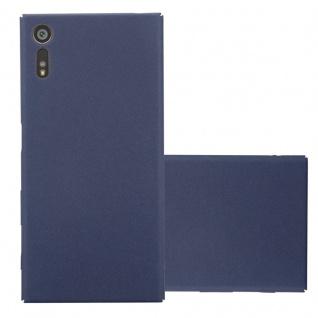 Cadorabo Hülle für Sony Xperia XZ / XZs in FROSTY BLAU - Hardcase Handyhülle aus Plastik gegen Kratzer und Stöße - Schutzhülle Bumper Ultra Slim Back Case Hard Cover